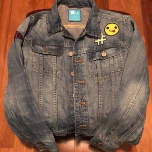 Girls GAP Kids Distressed Denim Jacket XL